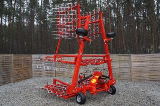 Jar-Met Brona chwastownik 9,0 m (6×1,5 m); Weeder harrow Grapa cu gheare