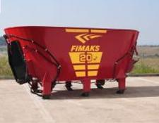 Fimaks Stationären Futtermisch/Stationary Mixer Feeder 20m3/ Кормораздатчик Fimaks FMVS 20 м3