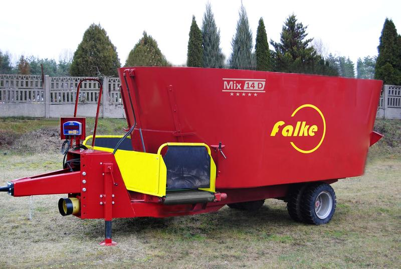 FALKE Double-Auger Mixing Wagons FOR LOW BARNS Mix 14 D