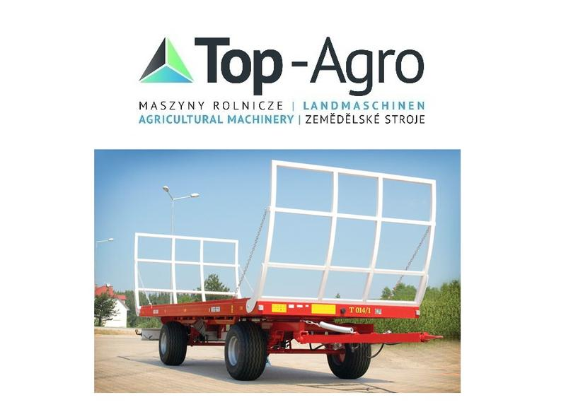 TOP-AGRO METAL-FACH Ballentransportanhänger T014/1 - 9T Metal-Fach TOP AGRO