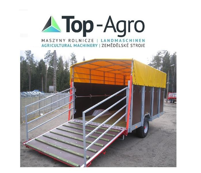 Top-Agro  BEST QUALITY KURIER-6 Viehtransportanhänger CYNKOMET Viehwagen