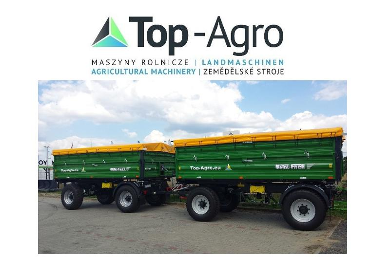 Metal-Fach TOP-AGRO T739 - 14t 3-Seiten Kipper TOP-AGRO Geteilte Bordwande